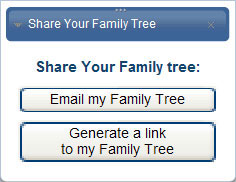 Share your family tree by emailing a link or by posting on popular sites like Facebook